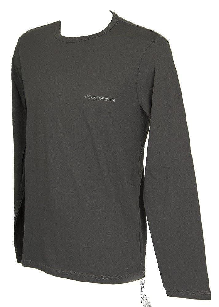 Emporio Armani Hombre Camiseta de pijama con logo de pecho largo, Gris, X-Large: Amazon.es: Ropa y accesorios