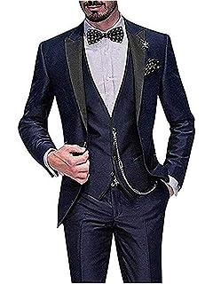 Costume 3 Pièces Hommes Formel d affaires Mariage Bal Slim Fit Smoking de  Toussaint Veste 796ca34296a