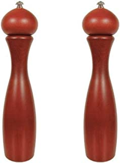 product image for Fletchers' Mill Marsala Collection Salt & Pepper Mill, Mahogany Stain - 12 Inch, Adjustable Coarseness Fine to Coarse, MADE IN U.S.A.