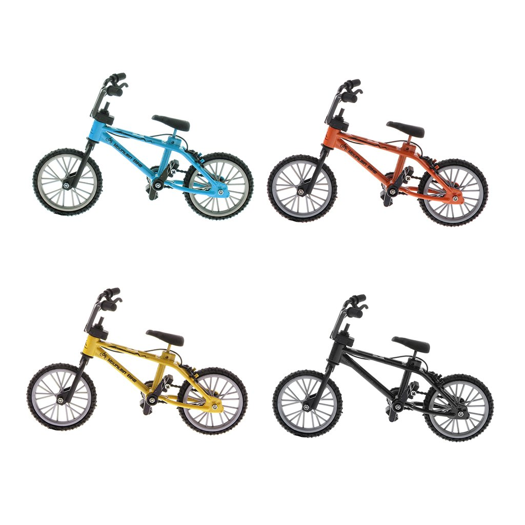 Homyl 4 Pieces 1/24th Mini Alloy BMX Bicycle Toys Finger Bike Diecast Model Stocking Filler
