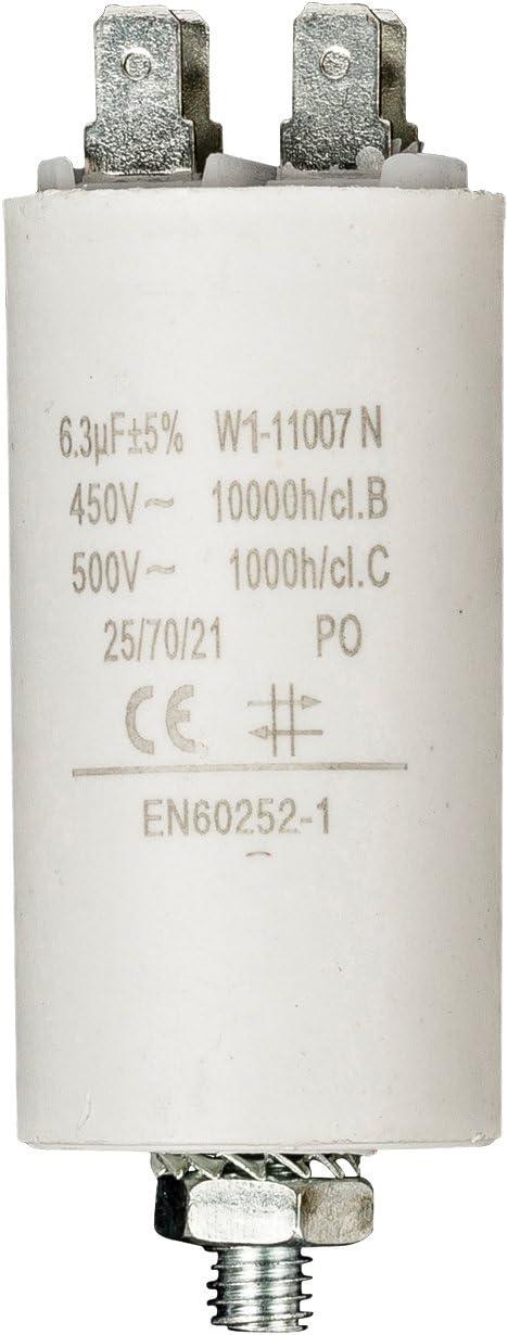 Fixapart W1-11007N, Condensador (6,3uF/450), Blanco