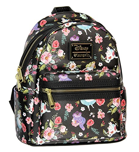 Loungefly X Alice in Wonderland Character Floral Print Mini-Backpack - Alice -in-Wonderland.net shop 0e9656d888daf