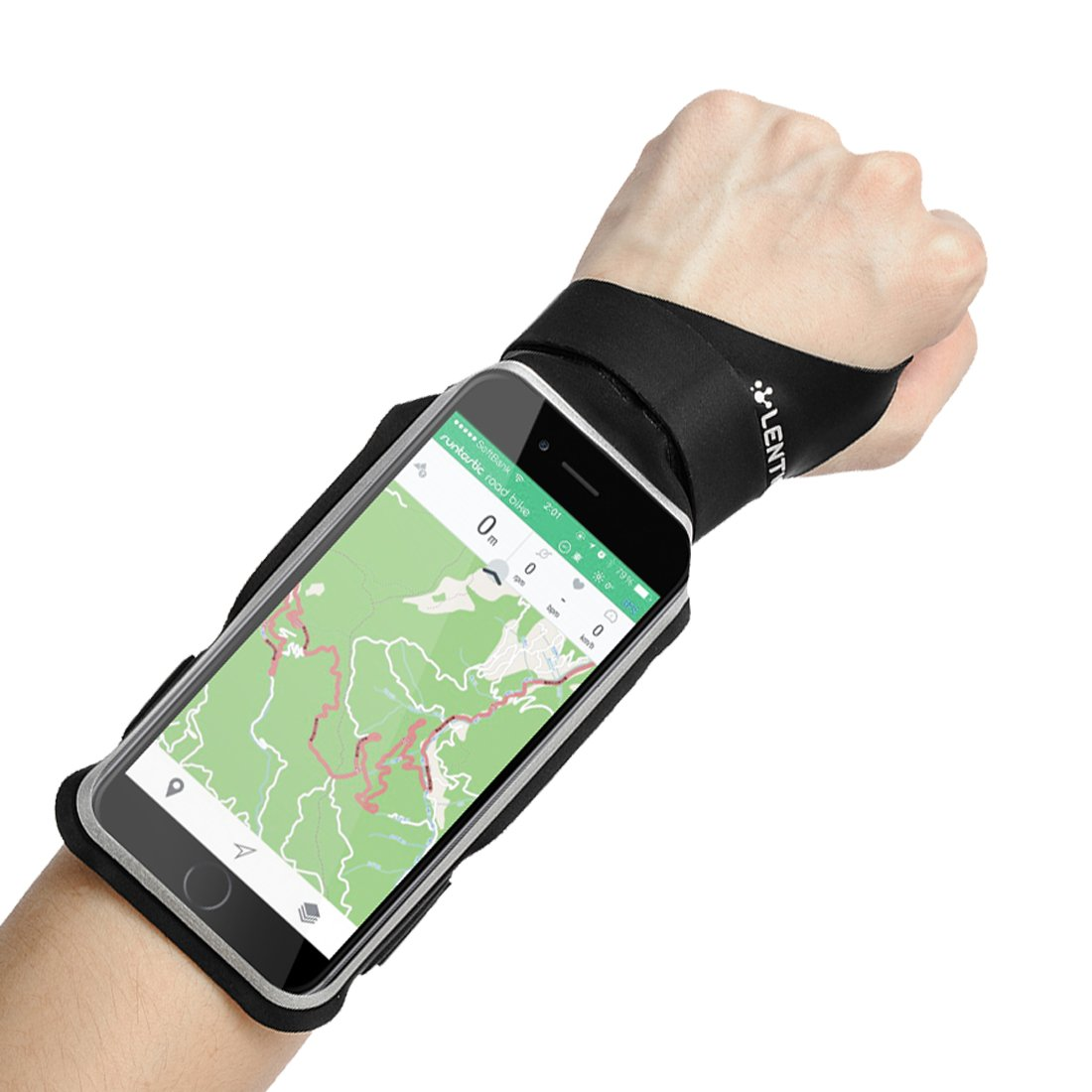LENTION iPhone 8 / 7 / 6s / 6 Touch Screen Forearm Band, Wristband, Running Armband with Key ID Cash Holder for Cycling, Jogging, Exercise, Sports (for Phones from 4.0''- 5.0'')