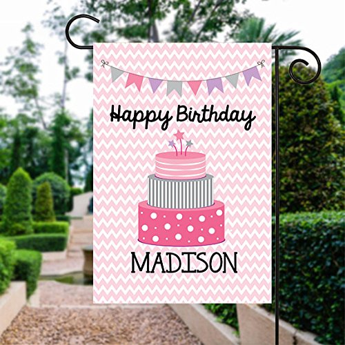 Bandera de Jardín feliz cumpleaños bandera | cumpleaños ...