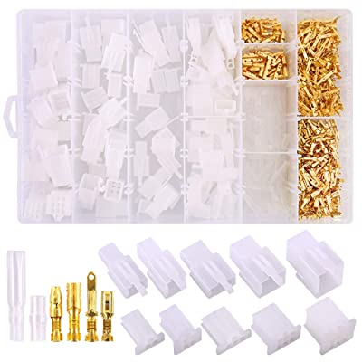 700Pcs 2 3 4 6 9 Pin Plug Housing Pin Header Crimp Electrical Wire Terminals Connector and 30 Sets 4mm Car Motorcycle Bullet Terminal Connector Assortment Kit for Motorcycle, Bike, Car, Boats: Car Electronics