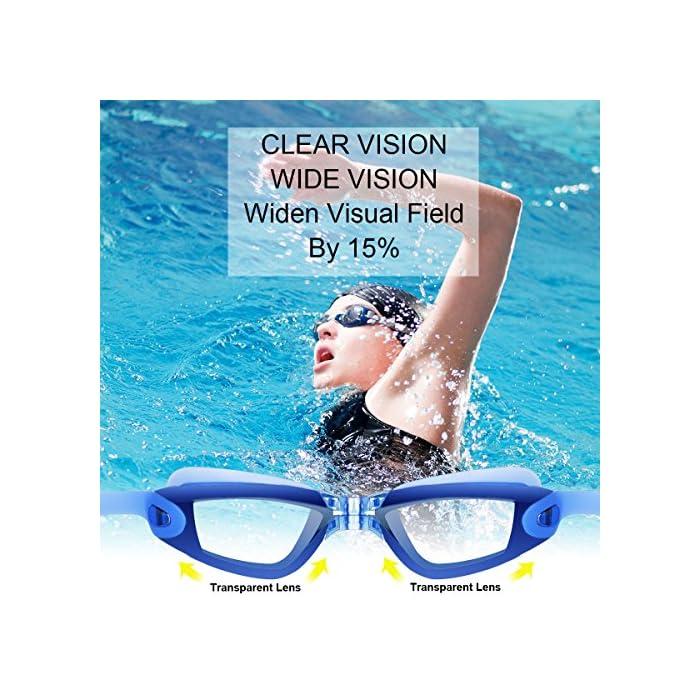 61sNeJdVLrL Diseño innovador - El tapón para los oídos está conectado con las gafas de natación. no te preocupes más por perder tapones para los oídos mientras estás nadando. Además, este tapón de silicona suave es cómodo en el oído con alta resistencia al agua. Anti niebla y protección UV - Antiniebla y capa ULTRAVIOLETA de la protección le proporcionan una experiencia excelente de la natación bajo agua. La protección contra la niebla puede ofrecerle una visión distante clara y larga debajo del agua, protección ultravioleta puede ayudar a proteger sus ojos contra ser lastimado por las luces ultravioleta y brillantes. Gran sellado y sin fugas - El material de silicona y el diseño ergonómico aseguran un ajuste perfecto en la mayoría de las formas faciales y nunca permite la filtración de agua.