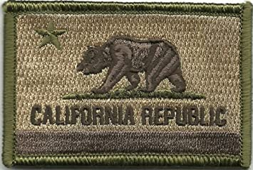 Subdued CALIFORNIA State Flag Tactical Patch