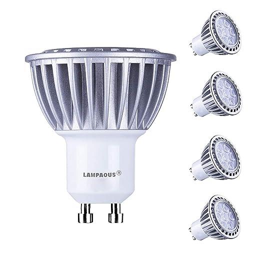 lampaous GU10 LED 7 W luz blanca fría bombilla LED spot ...