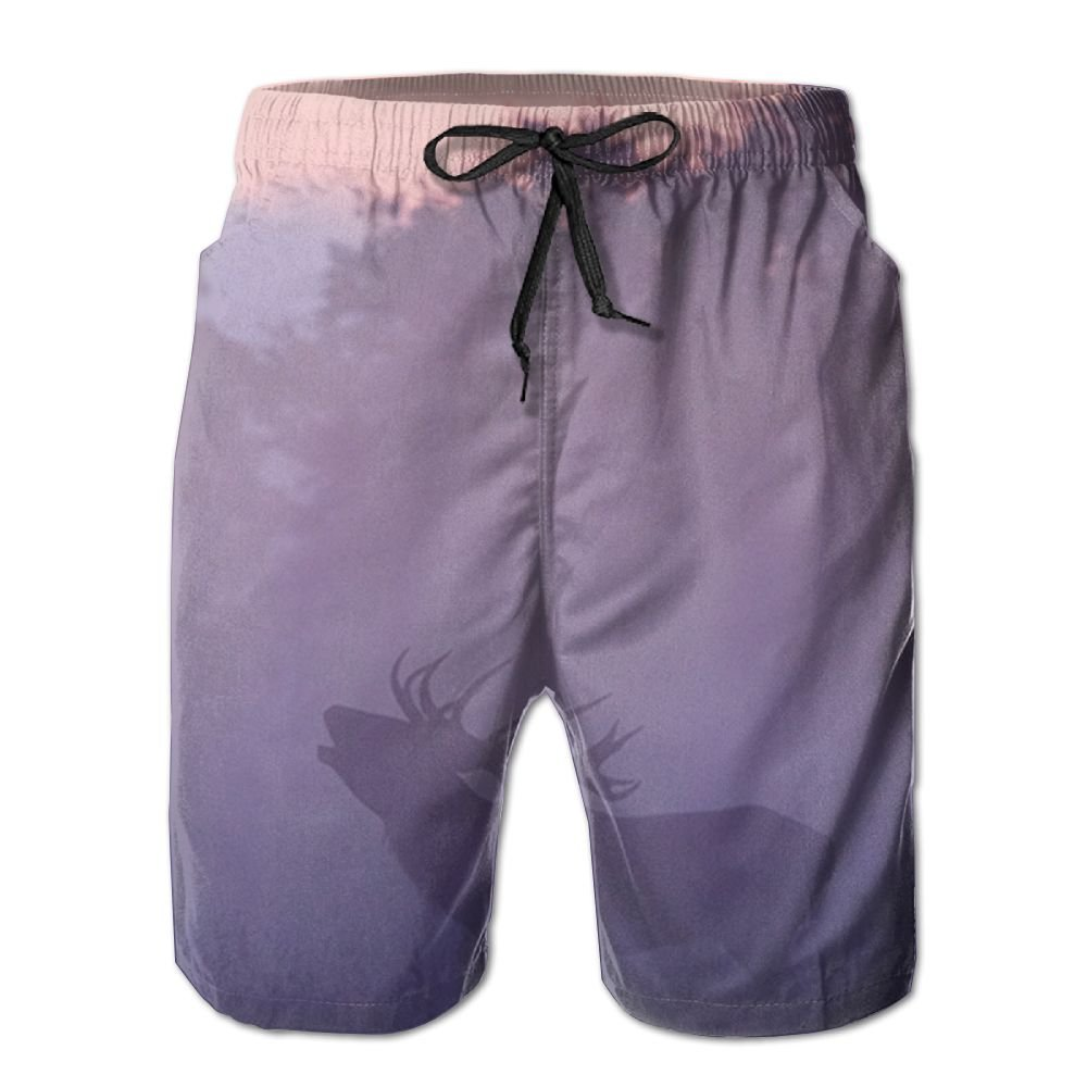 Moose In The Mist. Men's Beach Shorts Swimming Pants
