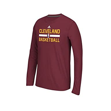533334e04d20 Cleveland Cavaliers Adidas NBA Maroon Climalite Long Sleeve Practice Youth  Shirt (Small)