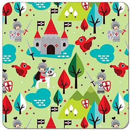 "Waterproof PUL Fabric Print 56"" Wide (Made in USA, Sold By the Yard) (Fairy Tale Knight)"
