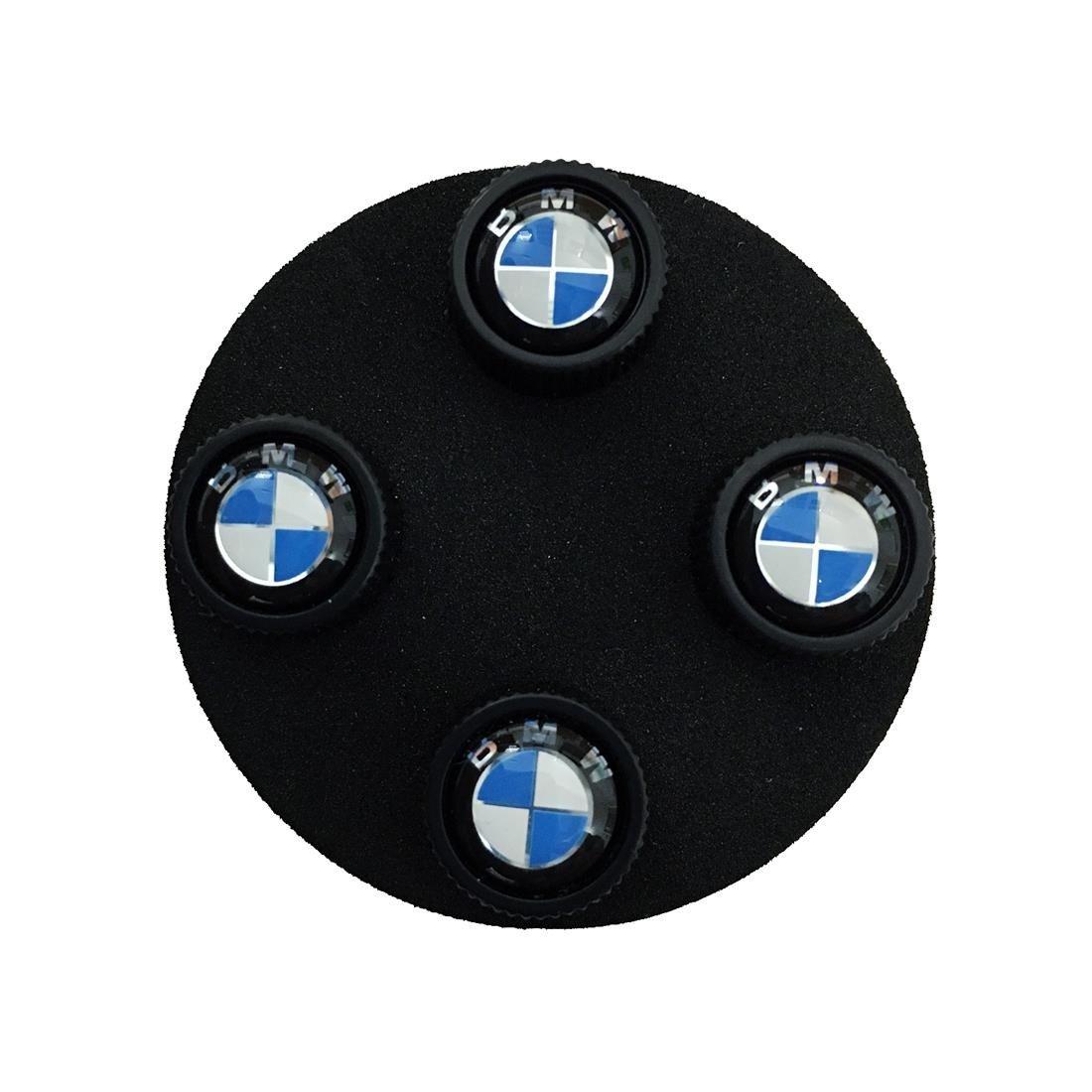 BMW Genuine Roundel Wheel Tire Valve Stem Caps Black by BMW