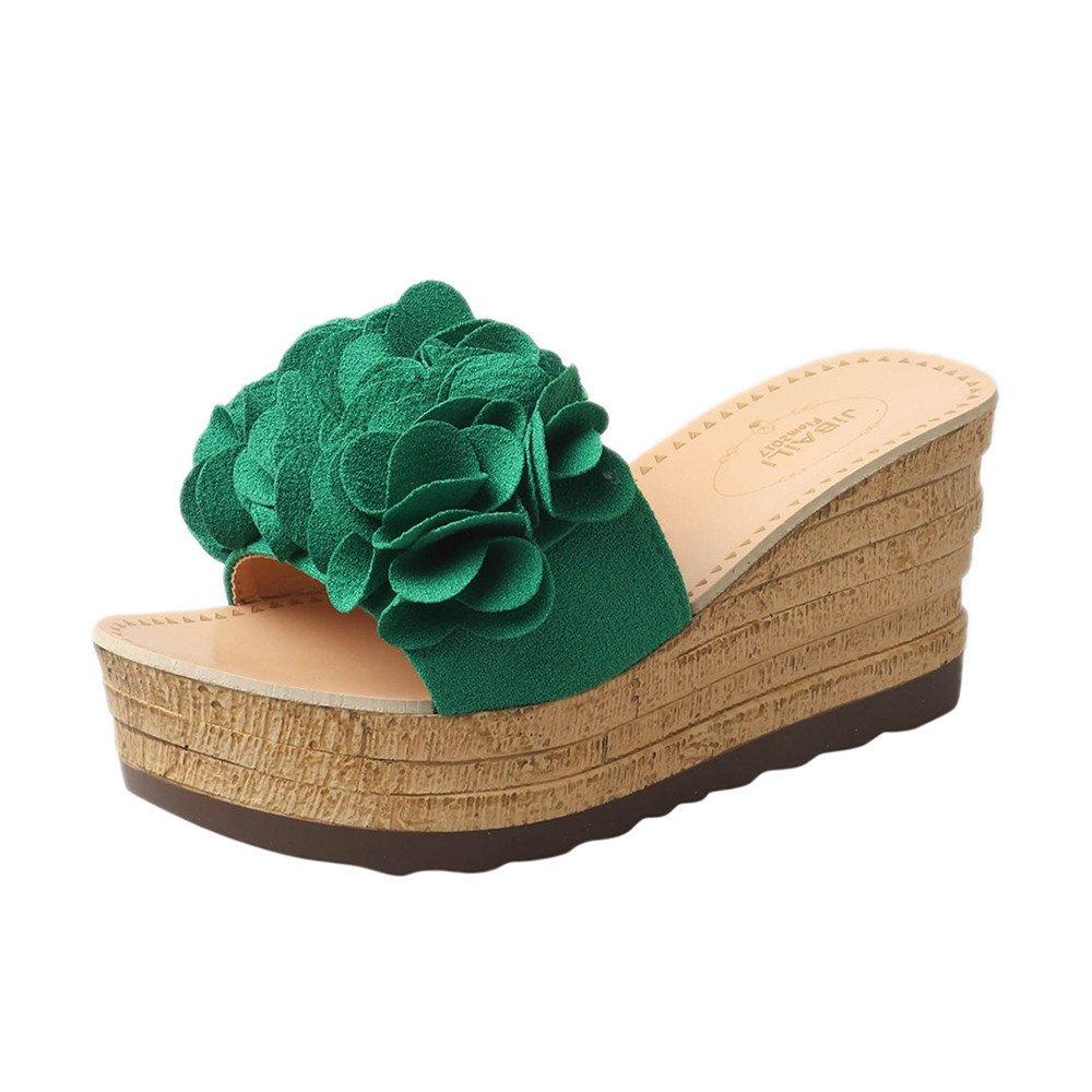26e572e638e1 YEZIJIN Hot Sale! Summer Floral Platform Waterproof Women Sandals Wedge  Sandals Slippers Shoes 2019 New Summer Beach Sandals Slippers for Girls  Women Ladies ...