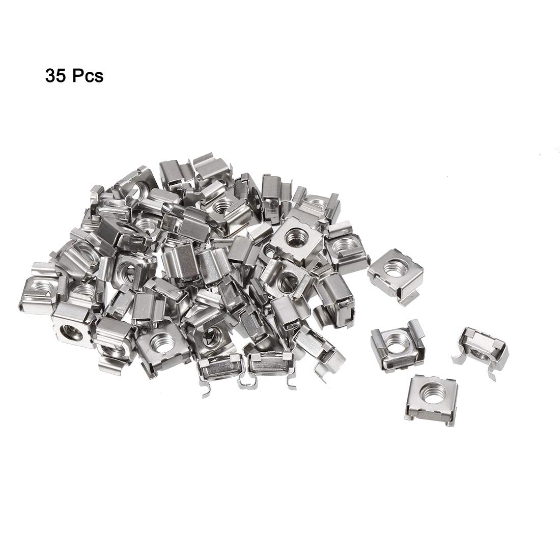 uxcell/® M6 x 1mm 304 Stainless Steel Nylock Nylon Insert Hex Lock Nuts 50pcs