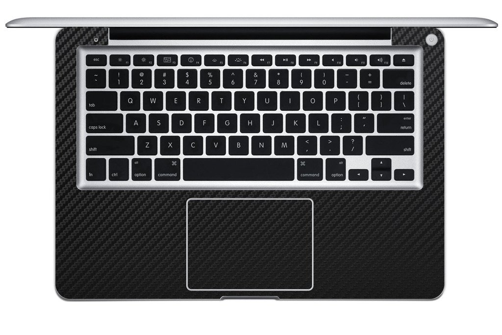 iCarbons Black Carbon Fiber Vinyl Skin for MacBook Pro 13'' (Silver Unibody) Full Combo by iCarbons (Image #6)