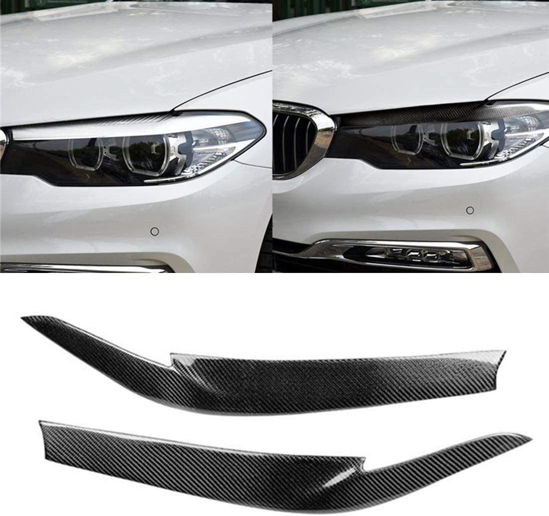 車の炭素繊維装飾ステッカー シンプルで実用的なBMW 5シリーズG38 528Li / 530Li / 540Li 2018年の車カーボンファイバーライト眉毛、