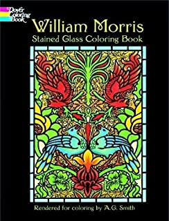 William Morris Stained Glass Coloring Book Dover Design