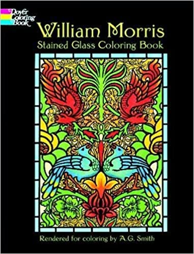 William Morris Stained Glass Coloring Book (Dover Design Stained ...