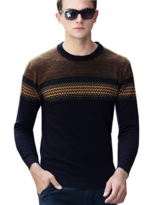 74c93a949 Suéteres para Hombre Elegante Moda Casual Larga Manga De ...