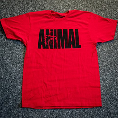 - Animal Men's Iconic M-Stak Premium Tee, Red, Medium