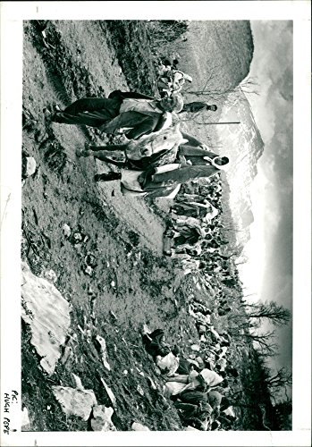 Vintage photo of back down a mountainaide from the Turkish village of Uzumlu.