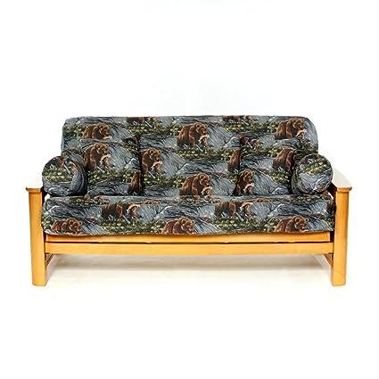 Sensational Amazon Com Ls Covers Salmon Creek Full Futon Cover Full Alphanode Cool Chair Designs And Ideas Alphanodeonline