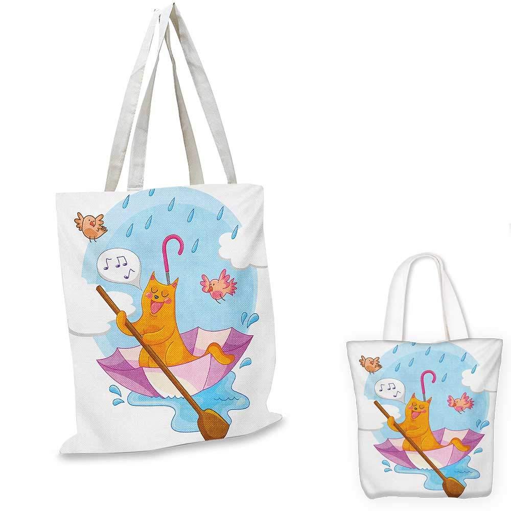 Koi Fish canvas messenger bag Eastern Japanese Exotic Koi Fish Figure Common Carp Calm Water Garden Graphic Design canvas beach bag Orange 12x15-10