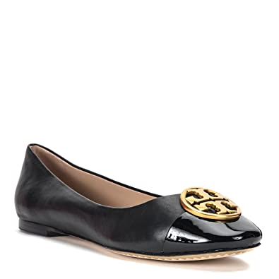 Tory Burch Women's Chelsea Cap-Toe Ballet Flat 43827-009, Black (US