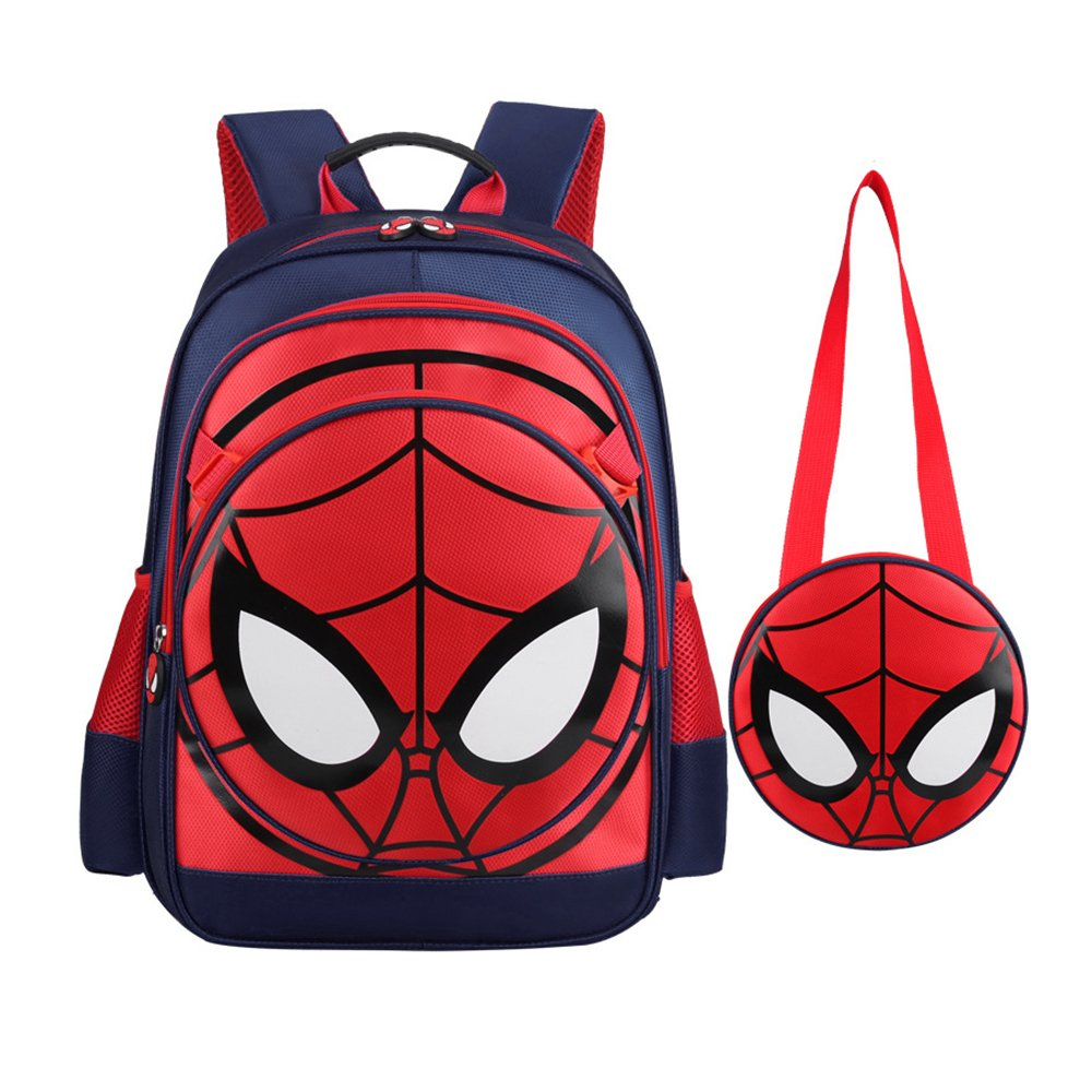 Backpack Spiderman Waterproof With Lunch Kit (Spiderman, One Size)