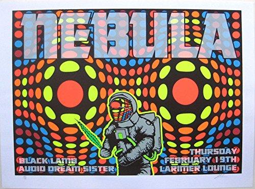 (Oddtoes Music Memorabilia Nebula- Original 2004 Concert Poster Signed & Numbered by Lindsey Kuhn, Black Lamb)