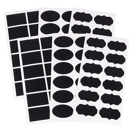 Naisicatar 2 Paquete de despensa y almacenamiento de etiquetas de la pizarra Etiqueta Craft tarro Organizador