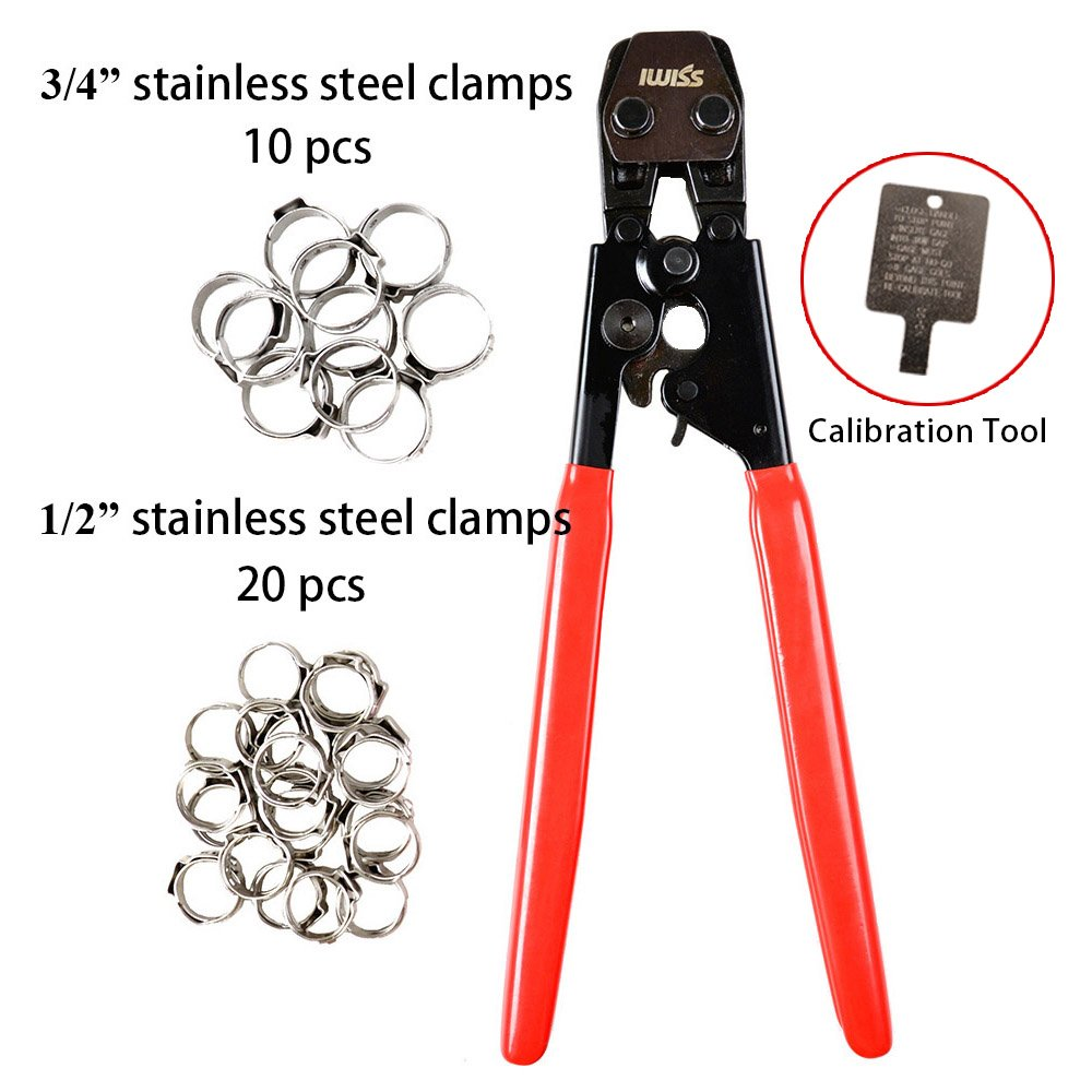 IWISS PEX CINCH Crimping Tool Crimper for Stainless Steel Clamps ...