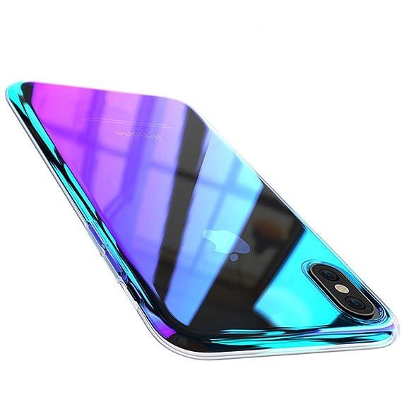 the best attitude 380f3 b50b5 Amazon.com: FLOVEME iPhone X XS Case, Luxury Slim Fit Gradual ...