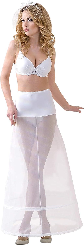 Lacey Bell Femme Jupon Maxi Elegante Elastique Taille pour Robe de Mariee P7-190