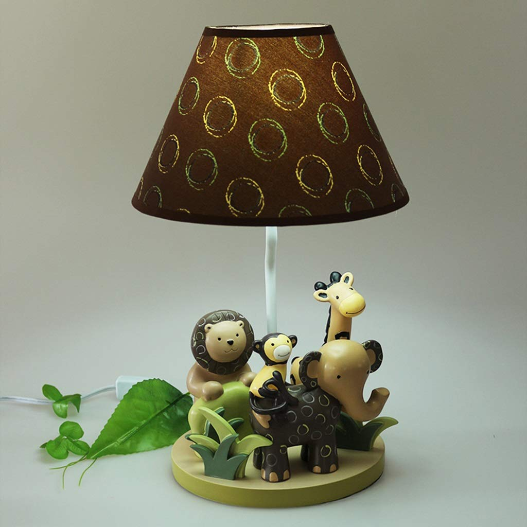 RXY-LAMP Resin Animal Elephant Lamp Small Boy Bedroom Bedside Lamp Creative Children's Room Warm Cartoon Cute Decorative Lights