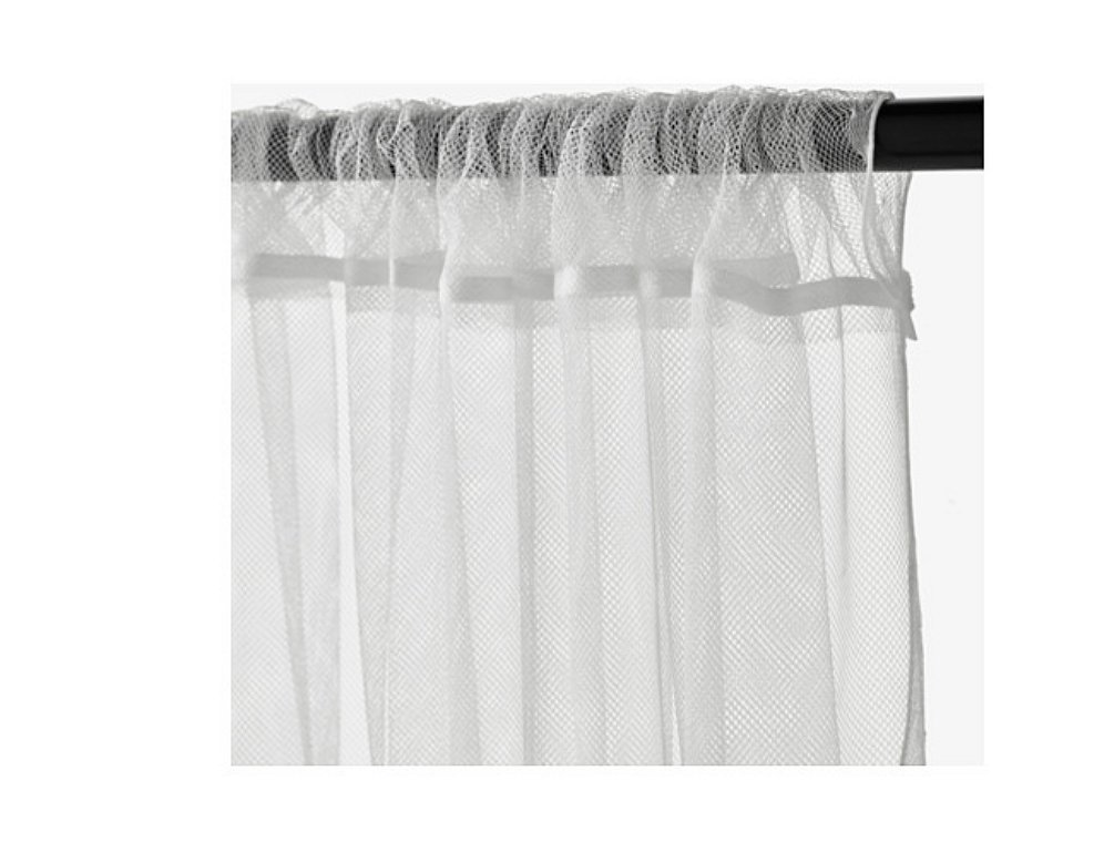 stunning amazoncom ikea mesh lace curtains inch by inch pairs white home u kitchen with rideau. Black Bedroom Furniture Sets. Home Design Ideas