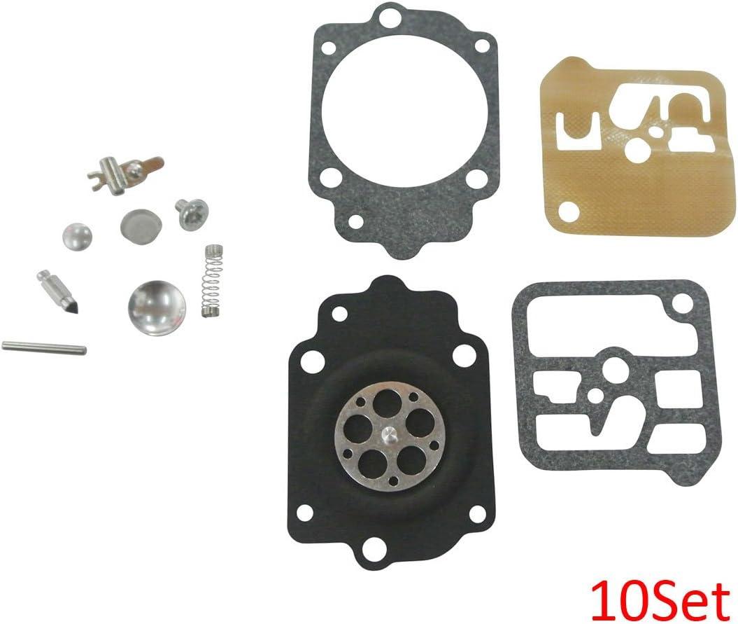 JRL Carburetor Reparación Diafragma Tillotson RK-1HE Kit para Jonsereds 535 HE-12A