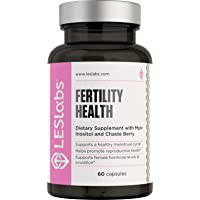 LES Labs Fertility Health, Fertility Supplement for Reproductive Health & Ovulation, Hormonal Balance & Cycle Regulation with Myo-Inositol, Chasteberry, DIM, Safe for PCOS, 60 Capsules
