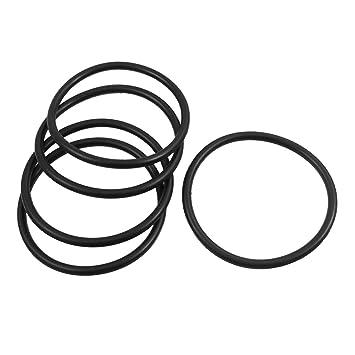 Schwarz 2,5/x/75/mm Sourcingmap Dichtungsring//O-Ring 10/St/ück aus Nitrilkautschuk