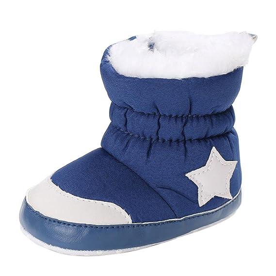 Amlaiworld_Primeros pasos Zapatos Bebe Invierno, Botines bebé recién Nacidos Niña Niño Botas de Invierno Zapatos Calientes recién Nacidos 0-18 Mes