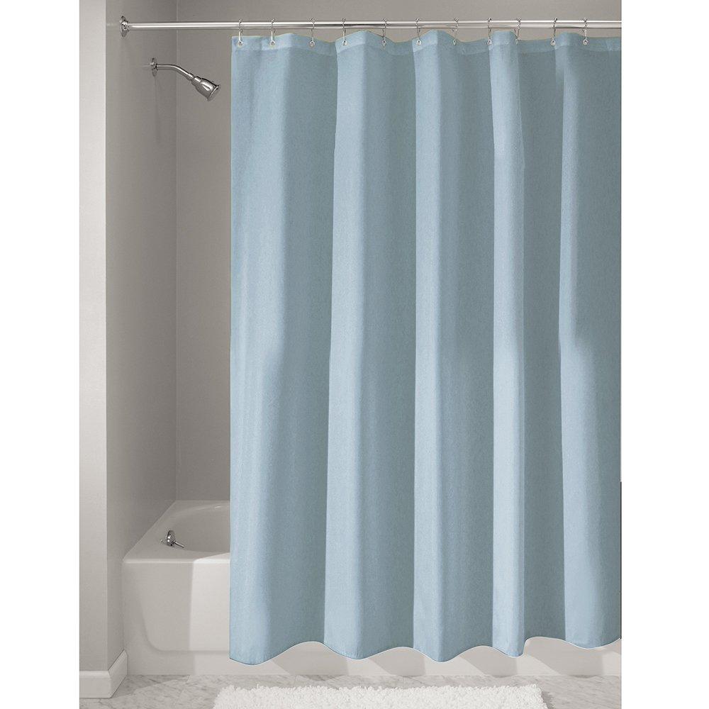 Slate Blue Fabric Shower Curtain Curtain Menzilperde Net