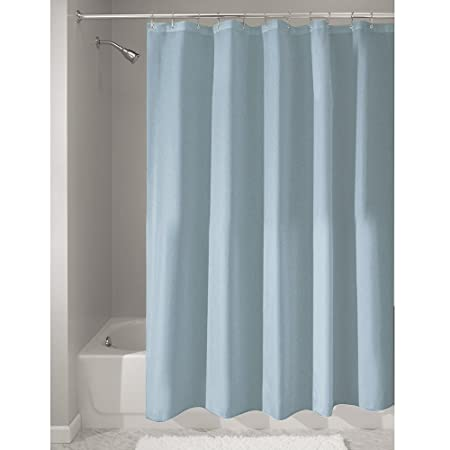 InterDesign Poly Bath Curtains Long Shower Curtain Made Of Polyester Slate Blue
