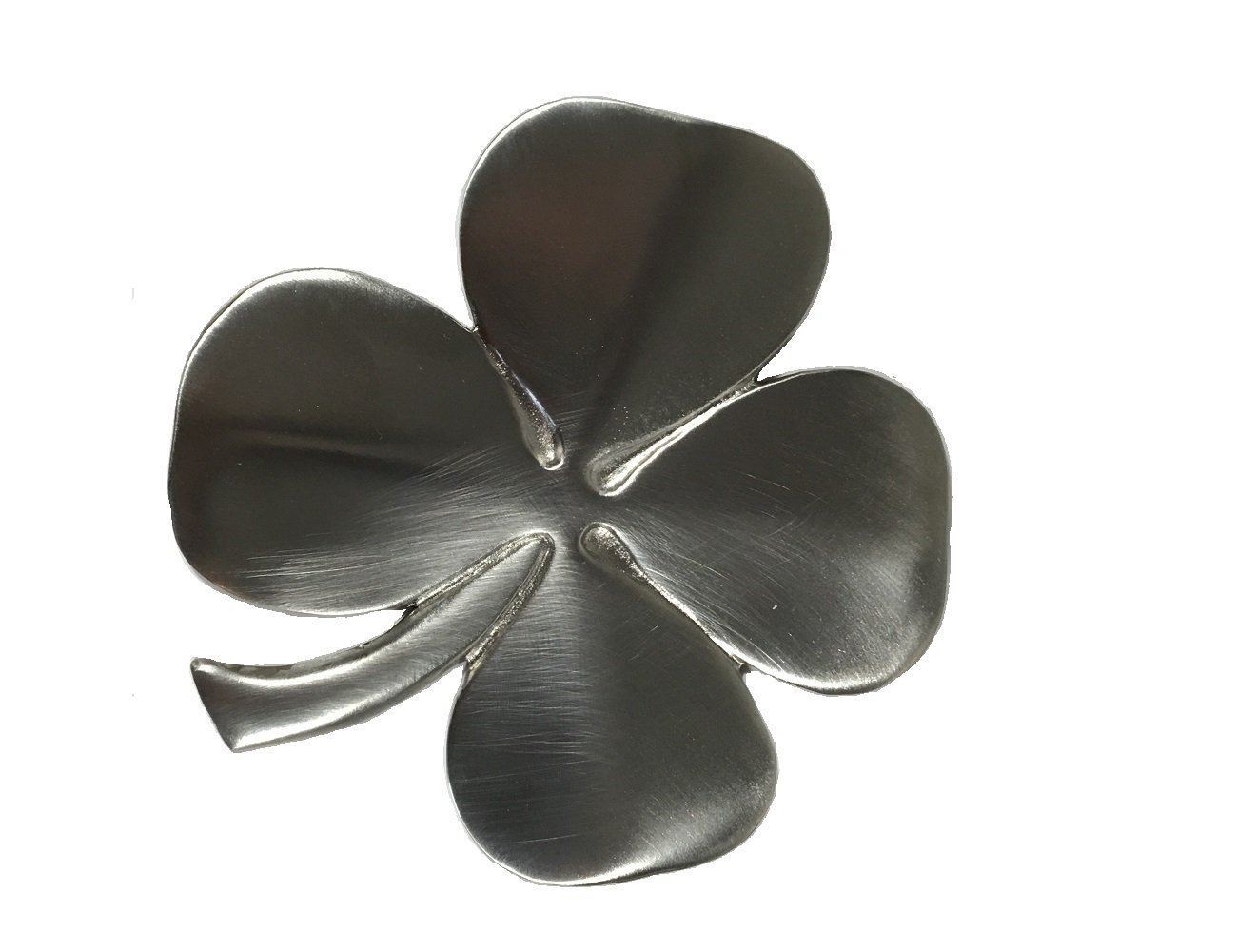 St. Patrick's Day Home Decoration Shamrock Wall Hanging Robert Emmet Company Lucky Four Leaf Clover Ireland Wall Hanging Silver Plated Pewter Irish Blessing Wall Decor