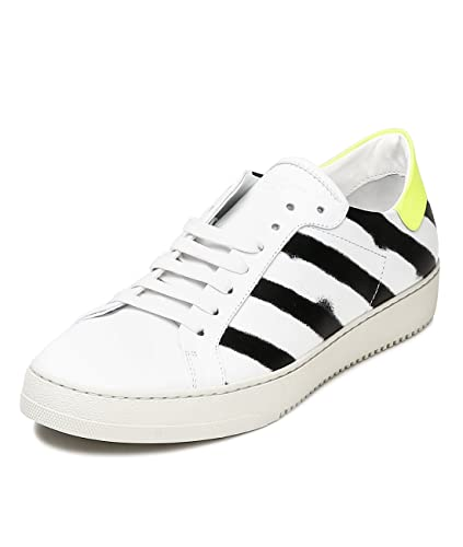 Amazoncom Wiberlux Off White Mens Striped Spray Paint Detail - How to get paint off shoes