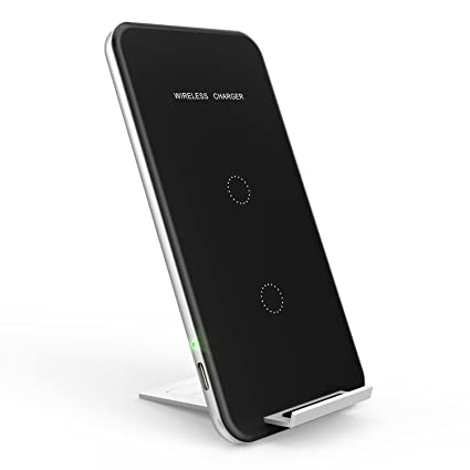 Wireless Charger, INCHOR Qi Certified Fast Wireless Charging 10W Wireless  Charging Stand for Galaxy S7/S8/S8/S9/Note8, 7 5W Fast Wireless Charging  Pad