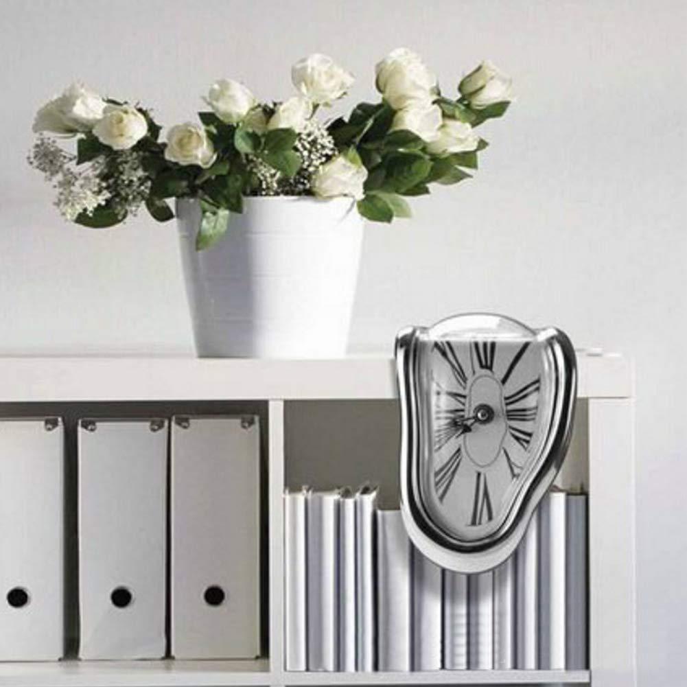 d/éform/ée Bureau Horloge Table Fusion Mur Horloge Temps Flux d/écoratif dr/ôle Salvador Dali Style WE-WIN Fonte Horloge