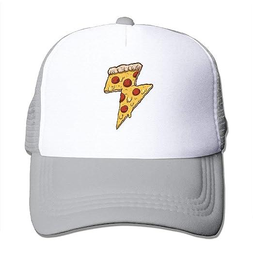 a9ecac30a4aa73 Amazon.com: Cool Thunder Cheesy Pizza Adult Trucker Mesh Baseball Cap Hat  Ash: Clothing