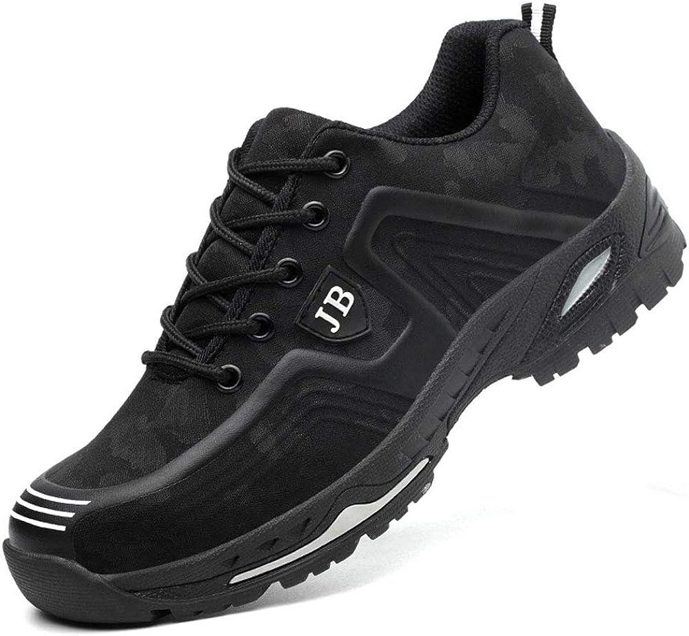 Zapatos de Seguridad para Hombre Zapatillas Zapatos de Mujer Seguridad de Acero Ligeras Calzado de Trabajo para Comodas Unisex Zapatos de Industria y Construcción