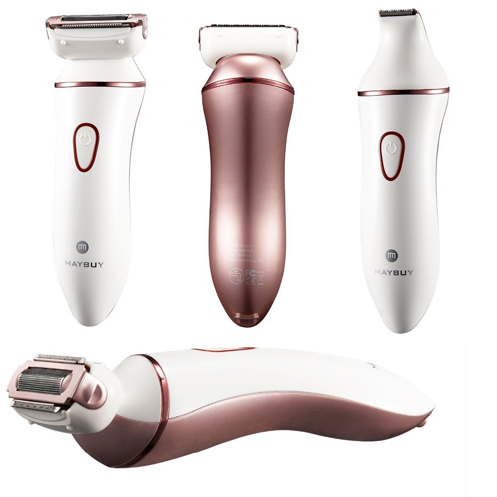 4-In-1 Cordless Ladies Electric Shaver, Wet & Dry Women Electric Razor Bikini Trimmer