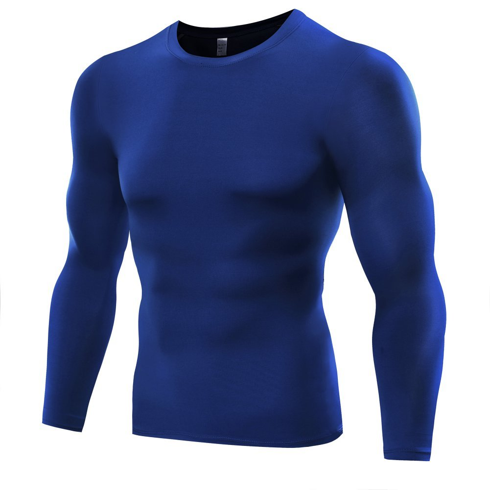 Etopfashion Herren Langarm Kompressions Funktionsshirt Fitness Sweatshirt